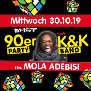 90er Party feat. Mola Adebisi meets K&K Band