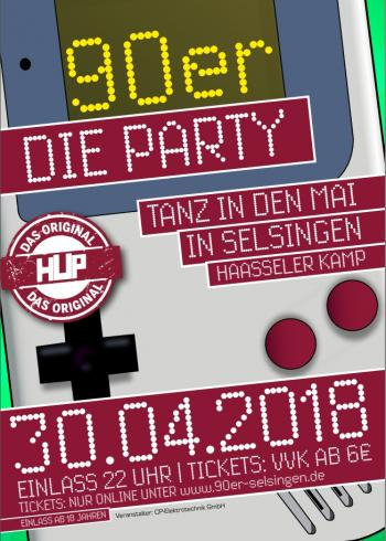 Tanz in den Mai 90'er Die Party